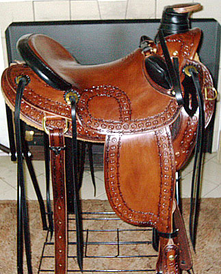wade custom draft horse saddle usa leather brass hardware horse saddle 323x400