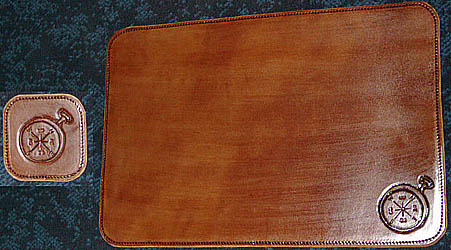 Custom Leather Place Mats Placemats Table Mats Nautical