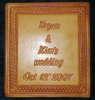 wedding running w, personalized leather memory books