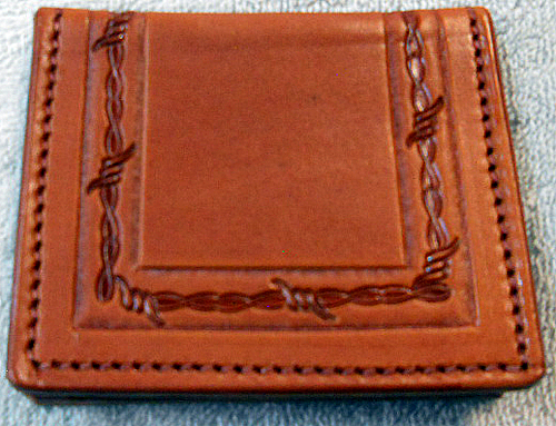 Custom Leather Billfold Card Wallets Made In Usa