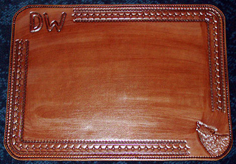Merveilleux Personalized Leather Place Mats, Placemats, Executive Board Room, Table Mats,  Desk Mats, Howling Wolf