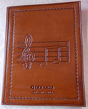 Personalized Musician S Leather Portfolios Music Hand