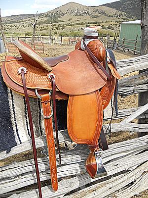 Will James Supreme Custom Mule Saddle Trina Weber