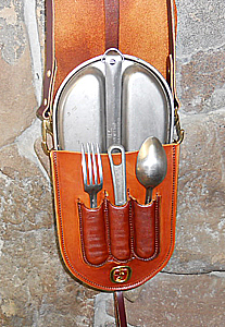 Leather Mess Kit U S Army Mess Kit Leather Carrier