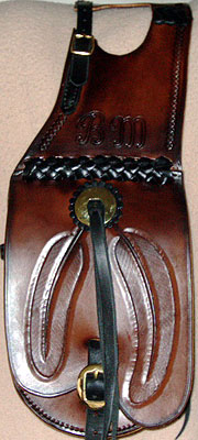 Pommel Bags, Holster Optional, Russet Leather, Brown Leather